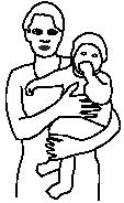 Mutter hält Kind